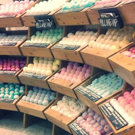 Lush! I worked in a Lush store & soon became addicted to their bath products..❤