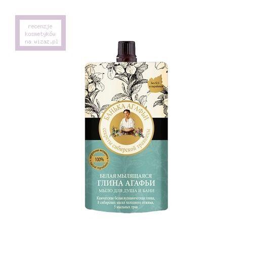 Bania Agafii, Biała myjąca glinka Agafii pod prysznic i do kąpieli - cena, opinie, recenzja   KWC