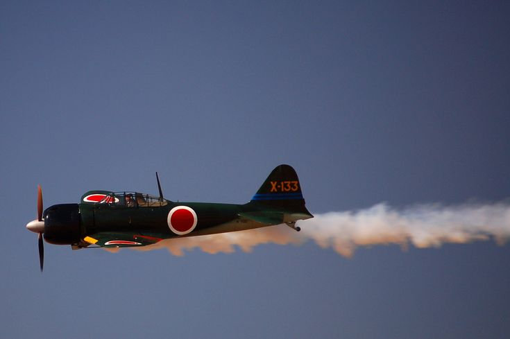 "The Mitsubishi A6M is without a doubt the most famous Japanese fighter. First flown against the Chinese in the Sino Japanese War; the A6M was fast, light and very agile. The allied code name for this aircraft was ""Zeke"", although it was also well known as the ""Zero"". In 1941 and early 1942, the Zero ruled the skies in the Pacific. The battle of Midway in June of 1942 changed the course of the war for the Japanese and the Zero no longer had air superiority."