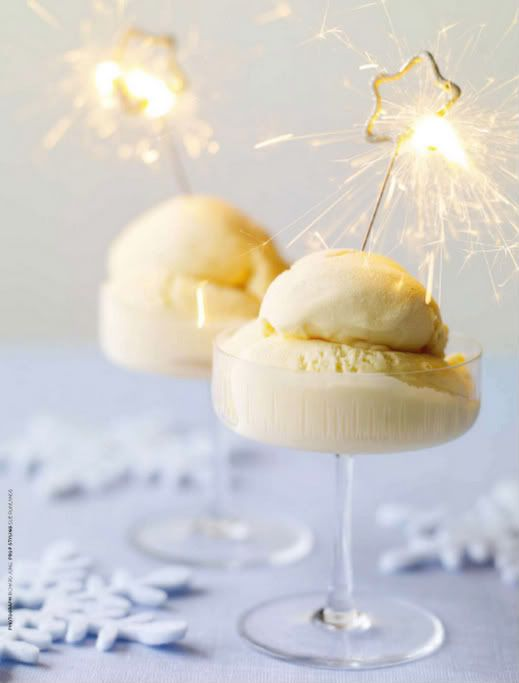 SPARKLING DESSERT for New Year's Eve.
