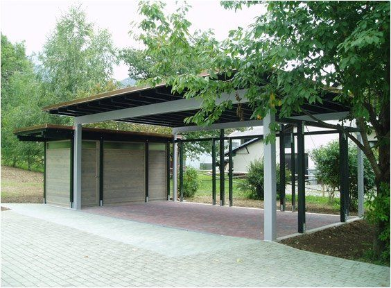 Modern Carport With Storage : Best images about garages carports on pinterest