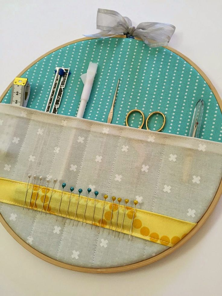 Sew delicious embroidery hoop storage pockets tutorial