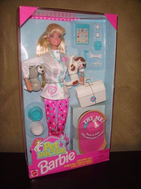 RETRO VINTAGE BARBIE DOLL 1996 PET DOCTOR BARBIE DOLL | eBay