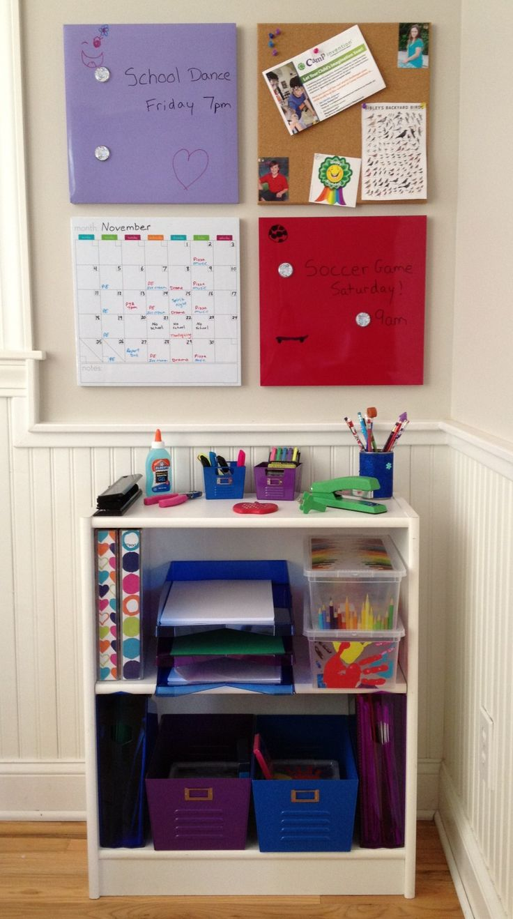 Family school command station and family area work station: