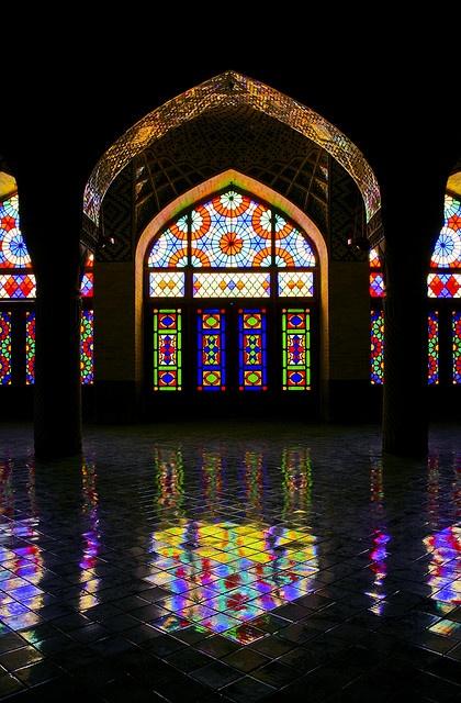 Nasir-ol-Molk Mosque in shiraz, Iran.
