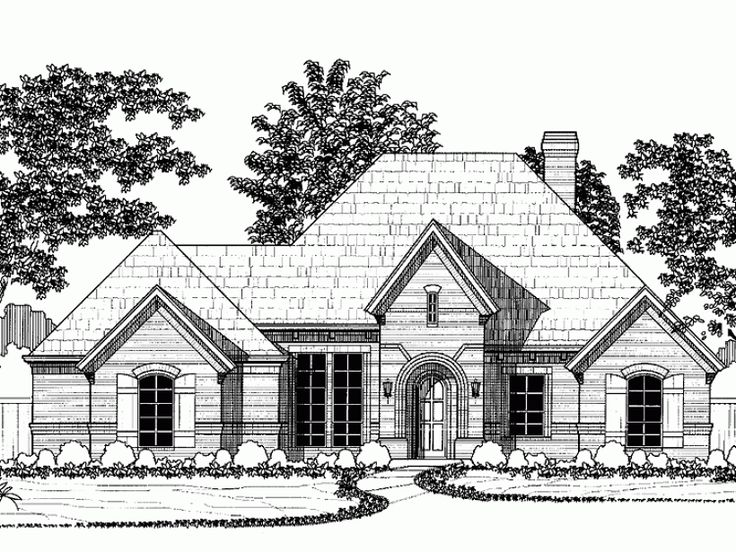 build your ideal home with this french country house plan with 2 bedroomss