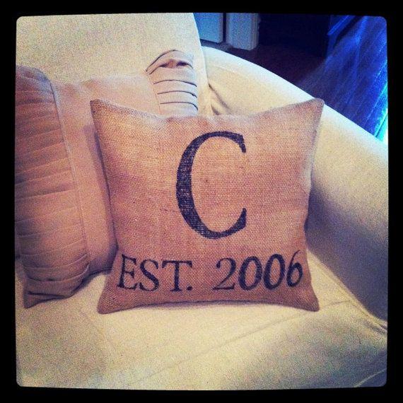Custom Personalized Burlap Stenciled Pillow by elzawear on Etsy & Best 25+ Stencil pillow ideas on Pinterest   On our way lyrics ... pillowsntoast.com