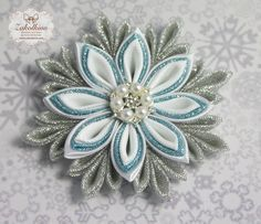 Frozen hair bow - Frozen Snowflake - White hair bow - Set of 2 - Frozen Necklace - Kanzashi Snowflake - Ribbon Sculpture - Christmas bow by ZakolkinoCom on Etsy https://www.etsy.com/listing/254592792/frozen-hair-bow-frozen-snowflake-white