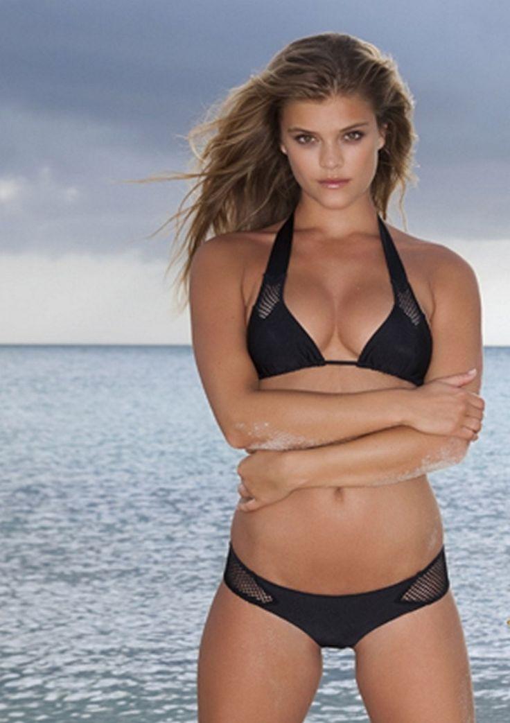 Nina Agdal Halter Bikini