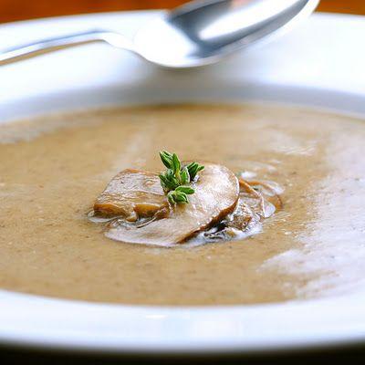 """cream"" of mushroom, paleo soup! Yes, please:)"