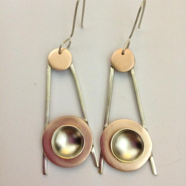 Aros de plata con cobre. Rubi Robles