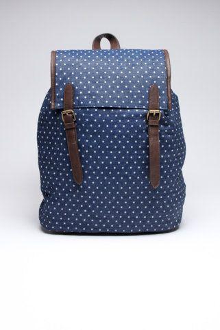 polka dot backpack for Jessie