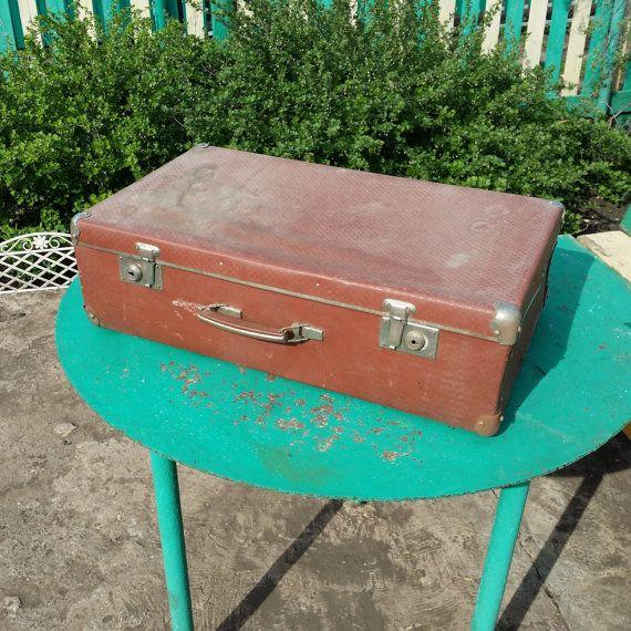 Soviet vintage suitcase. Home decor. от USSRVintageShopUSSR