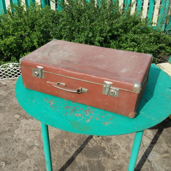 Soviet vintage suitcase. Home decor. от USSRVintageShopUSSR