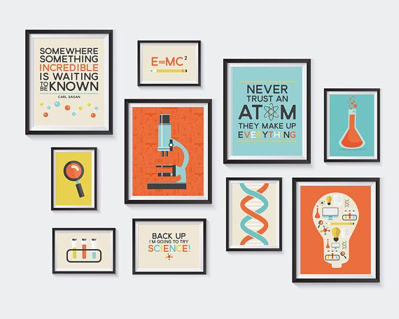 Science Printable Nursery Printables Chemistry Gallery Wall