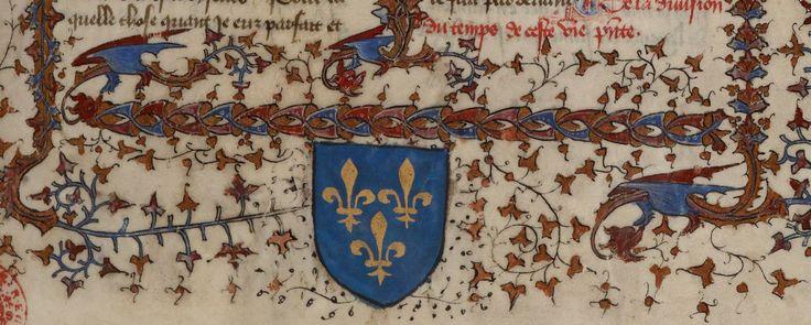 « La Legende dorée » [de JACQUES DE VORAGINE], traduction [de JEAN DE VIGNAY]  Date d'édition :  1404  Français 414   Folio 1r