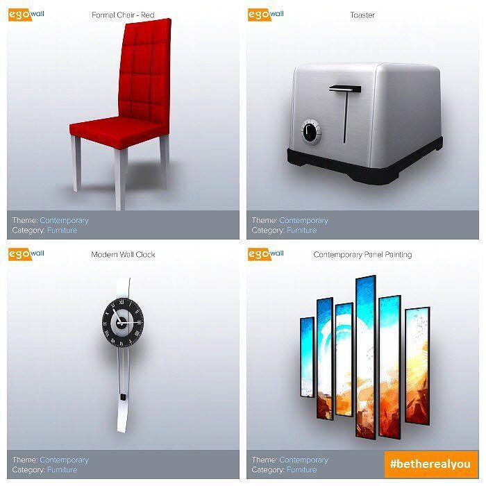 Contemporary Furniture Quadriptych  #friday #contemporary #furniture #chair #toaster #clock #wallclock #art #painting #interior #design #interiordesign #beautiful #elegant #decor #interiordecor #home #homes #3d #game #games #gamer #gaming #videogame #videogames #gamedev #therealyou  Sign up for a free account today at www.egowall.com.