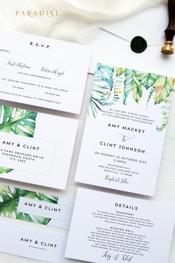starfish wedding invitation kits%0A Tropical Wedding Invitation Sets  Printable Wedding Invitations or Printed Wedding  Invitations  Beach Wedding Invitations