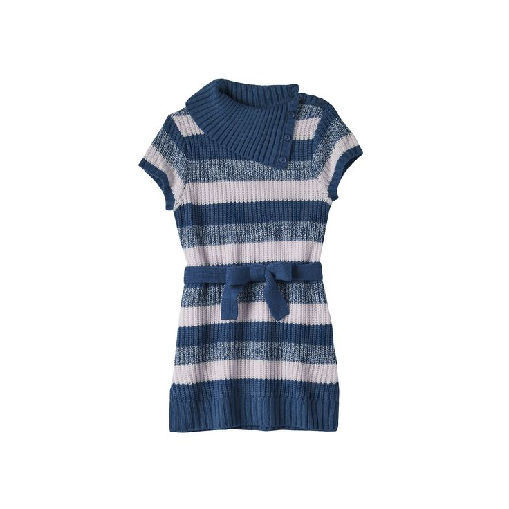 Girls Plus Size It's Our Time Splitneck Striped Sweater Tunic, Girl's, Size: Xxl Plus, Blue Other
