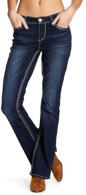 Seven7 Flap Pocket Bootleg Jeans