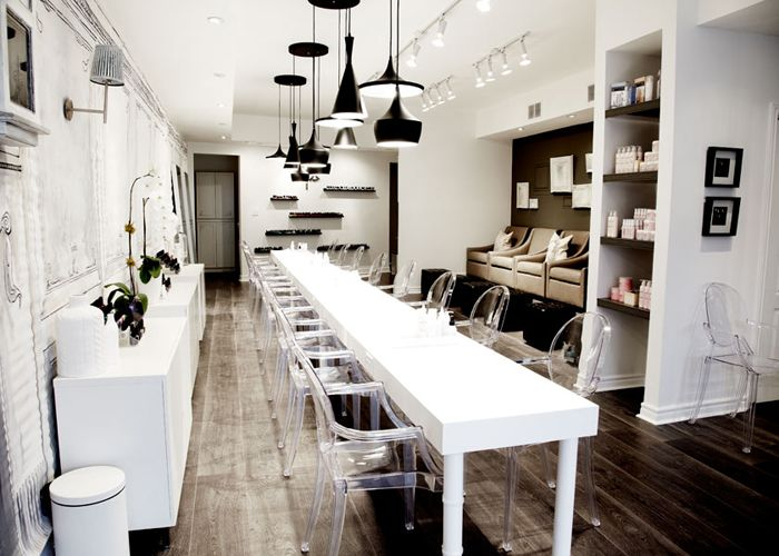 25 best ideas about nail salon design on pinterest for A little luxury beauty salon