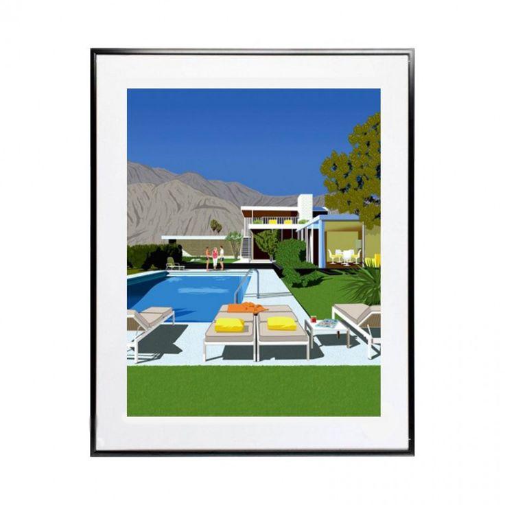 Poster Kaufmann Desert House, décorez votre intérieur design avec cette oeuvre emblématique de l'architecture de Palm Springs.
