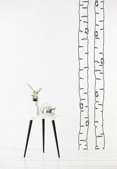 """Birkenstamm als Wandtattoo """"Birch"""" von Ferm Living   Bild ..."""