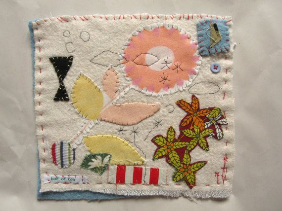 Small Textile made from vintage blanket and fabrics by halfoften, £21.00
