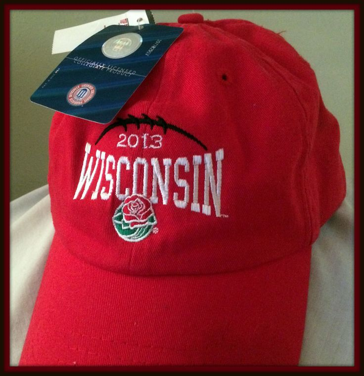 WISCONSIN BADGERS 2013 ROSE BOWL CAP ADULT ADJUSTABLE STRAP BACK CAP NEW W TAG #TopStar #WisconsinBadgers