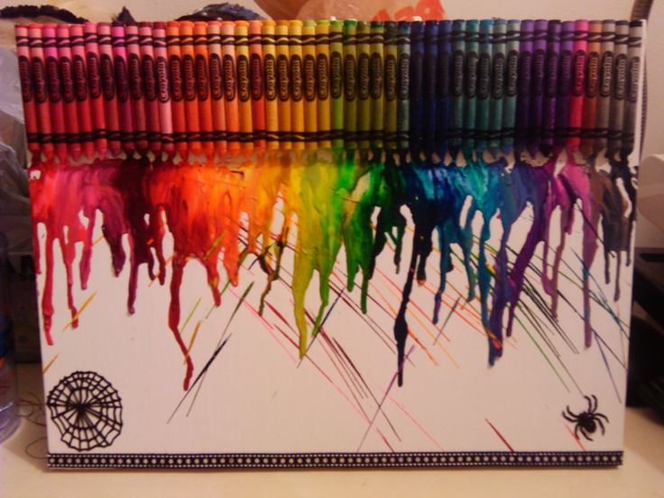 Crayons on canvas created for Jaime and Bree's anniversary.
