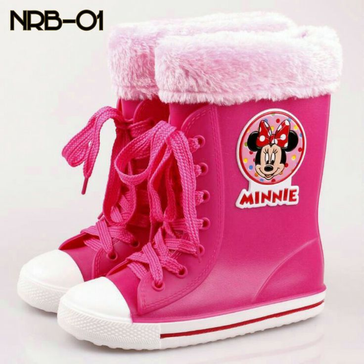 READY STOCK KIDS RAIN BOOTS KODE : NRB-01 Minnie Hotpink PRICE : Rp.200.000,- AVAILABLE SIZE (insole) : - Size 24 (17cm) - Size 30 (20cm)  FOR ORDER : SMS/WHATSAPP 087777111986 PIN BB 766A6420 FB : Mayorishop   #pusat #sepatu #boots #anak #kids #rain #sepatu #hujan #anti #air #karet #plastik #tali #fur #minnie #hotpink #import #ready #stock #mayorishop #online #bogor
