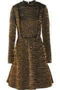 Lanvin Metallic brocade A-line dress
