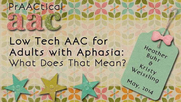 This article describes the light tech AAC option of communication books for adults with aphasia. It goes over what a communication book specifically is, how it can help, as well as examples of its use. One thing I learned from this article is how a light tech device like this relates to the resource allocation theory; by using a communication book, the linguistic load of the person with aphasia is decreased because the language form is in front of them.