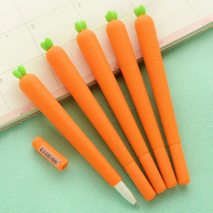 0.5mm Creative Carrot Gel Pen Cute Kawaii Silica Gel Pen For Kids Novelty Item Korean Stationery Free Shipping 2156
