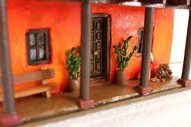 Resultado de imagen para fachadas en miniatura de casa chilenas