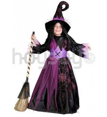 Original #disfraz para niña de bruja araña para disfrutar de tu fiesta de #Halloween #Disfraces