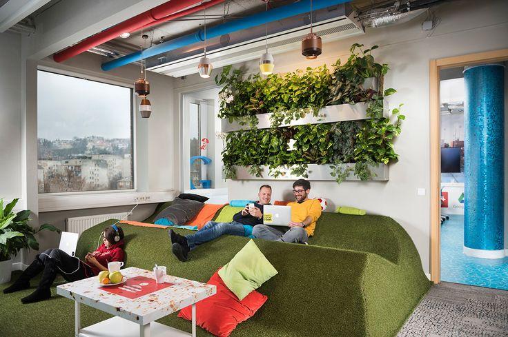 Oficinas con jardines interiores @alvarodabril