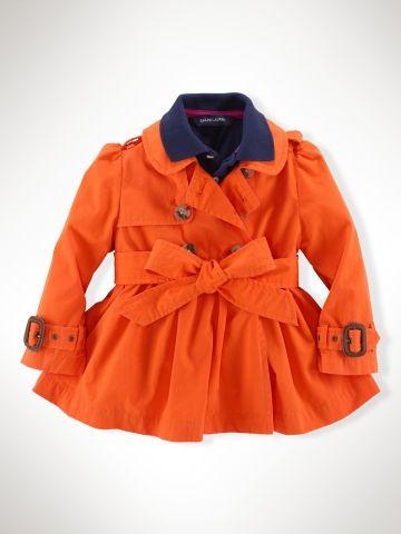 Classic Full-Skirt Trench Coat - Infant Girls Outerwear & Jackets - RalphLauren.com