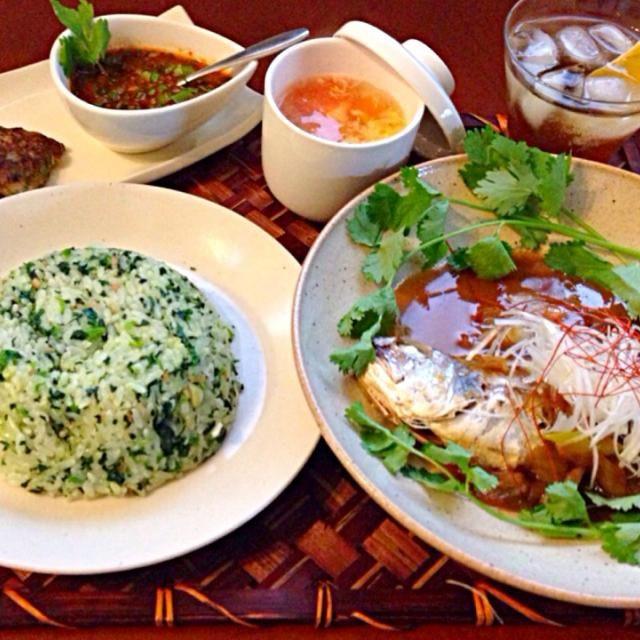 今宵は上海へフードTrip✈️ お肉続き&週末前なのでお野菜たっぷりお魚料理 - 98件のもぐもぐ - Tonight Shanghai Dinner上海ディナー蘿蔔糕・蕃茄蛋湯・菜飯・紅焼黄魚 by Ami