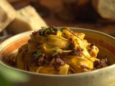 Ragu di Cinghiale (boar) Recipe courtesy of Gabriele Corcos and Debi Mazar Show: Extra Virgin Episode: Chianti Romance