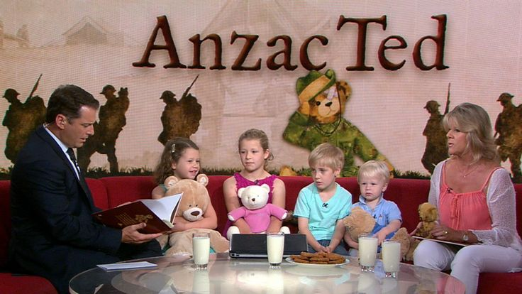 November 06, 2014: Karl reads Author Belinda Landsberry's new book Anzac Ted to Ben, Lucy, Holly and Charlie. Come back to this pin description if you want to WIN your own Anzac Ted teddy bear during March 2015 at http://www.booksforyoungminds.com.au/competitions.html
