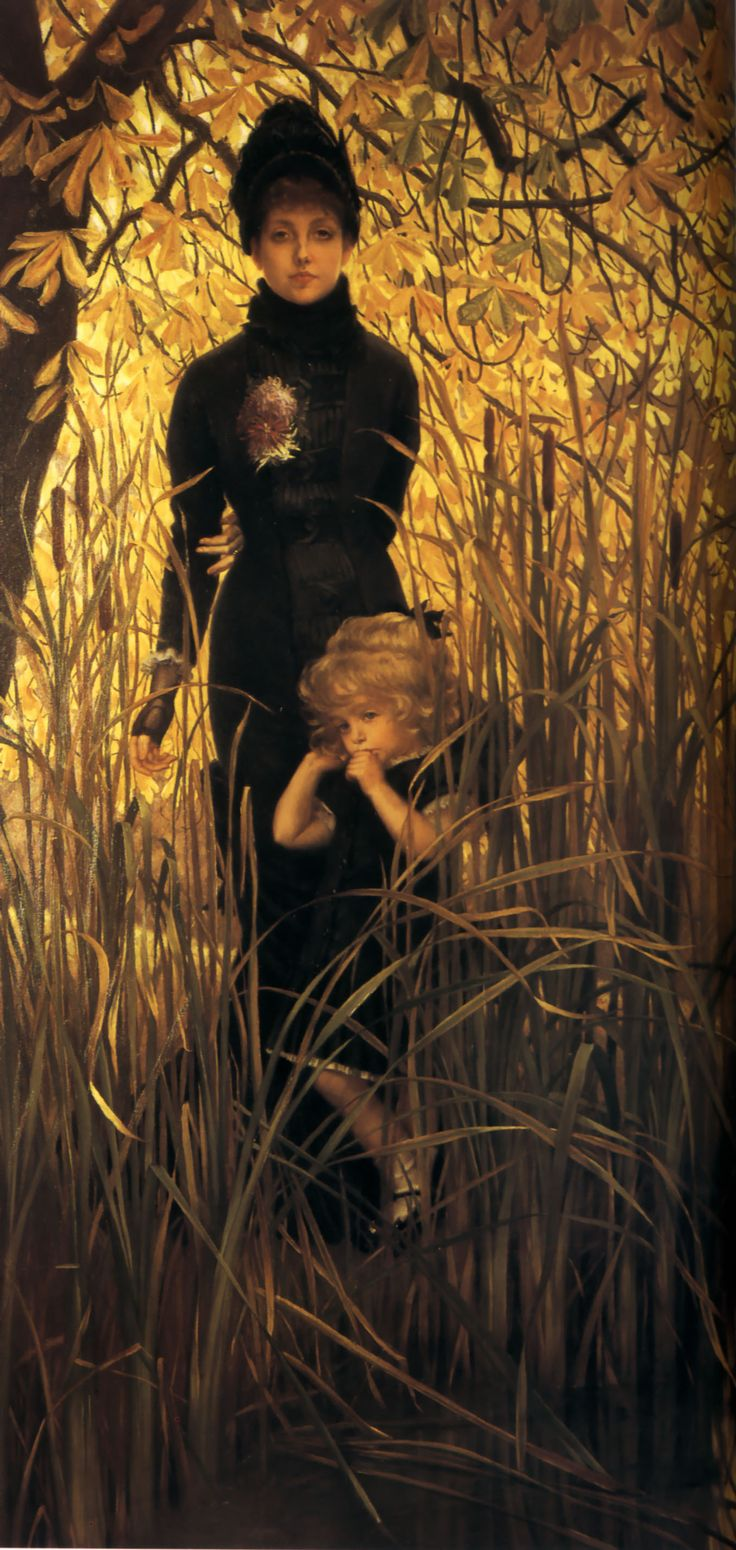 James Tissot. - Very unusual...but the child makes the painting.