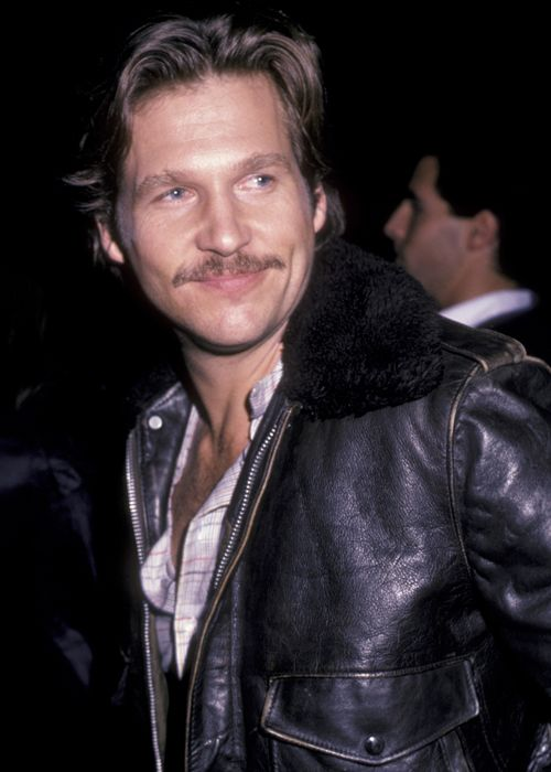 Great picture of Jeff Bridges with a 'stache!