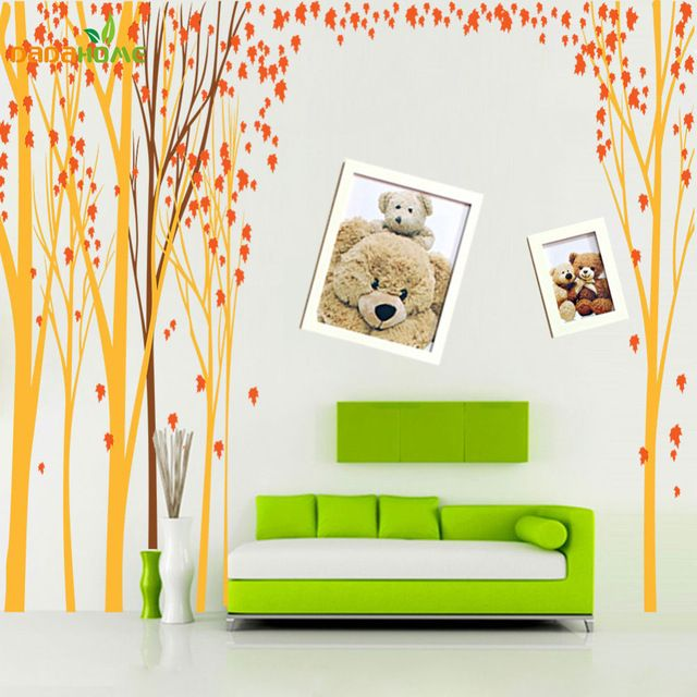 10 best ideas about wall stickers tree on pinterest tree for Decoration murale jaune moutarde