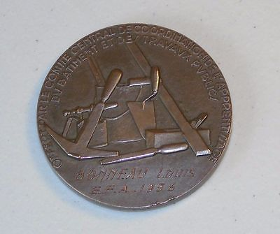 """Coin Pickers French 1956 Public Works Medal of Honor 2"""" Bronze"""