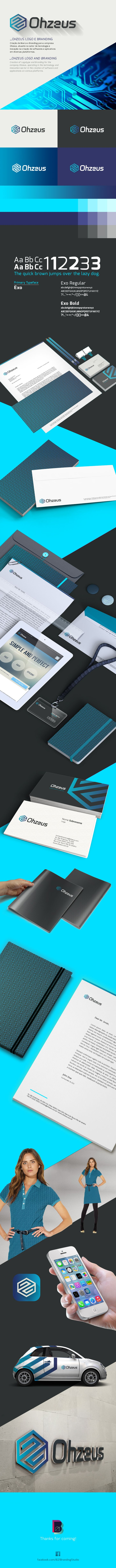 Creation of Logotype and Branding for the company Ohzeus, operating in the technology and innovation sector in the creation of software and applications on various platforms.