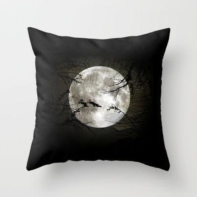 The moon in my hands Throw Pillow by Oscar Tello Muñoz - $20.00
