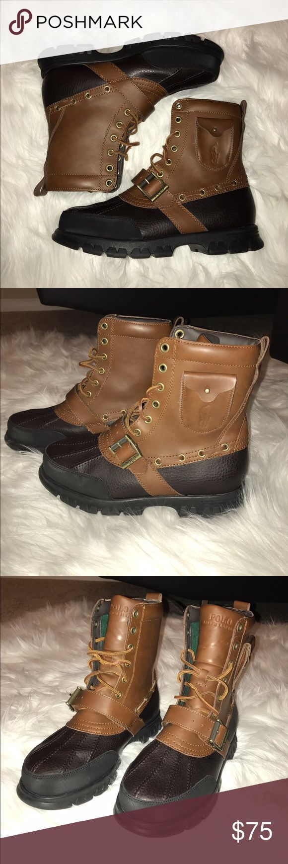 Polo Ralph Lauren Boots Hamlin Leather (9D High tan/ Briarwood brown) Wore once no box Polo by Ralph Lauren Shoes Boots