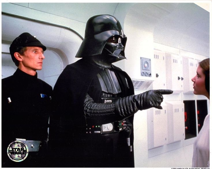DAVE PROWSE & CARRIE FISHER Unsigned 8x10 Star Wars, Official Pix Lucasfilm 2008