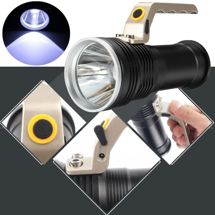 Rechargeable Powerful LED Flashlight Portable Brightness Handle Fishing Light Camping Torch